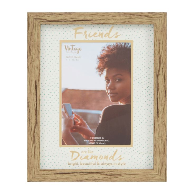 "4"" x 6""- Vintage Boutique Frame - Friends Are Like Diamonds product image"