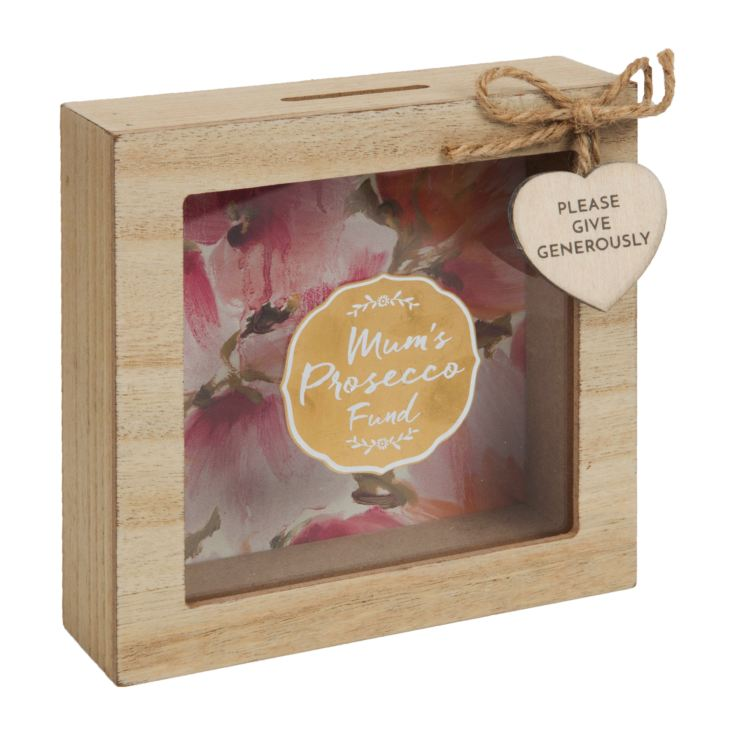 Mum's Prosecco Fund Wooden Money Box product image