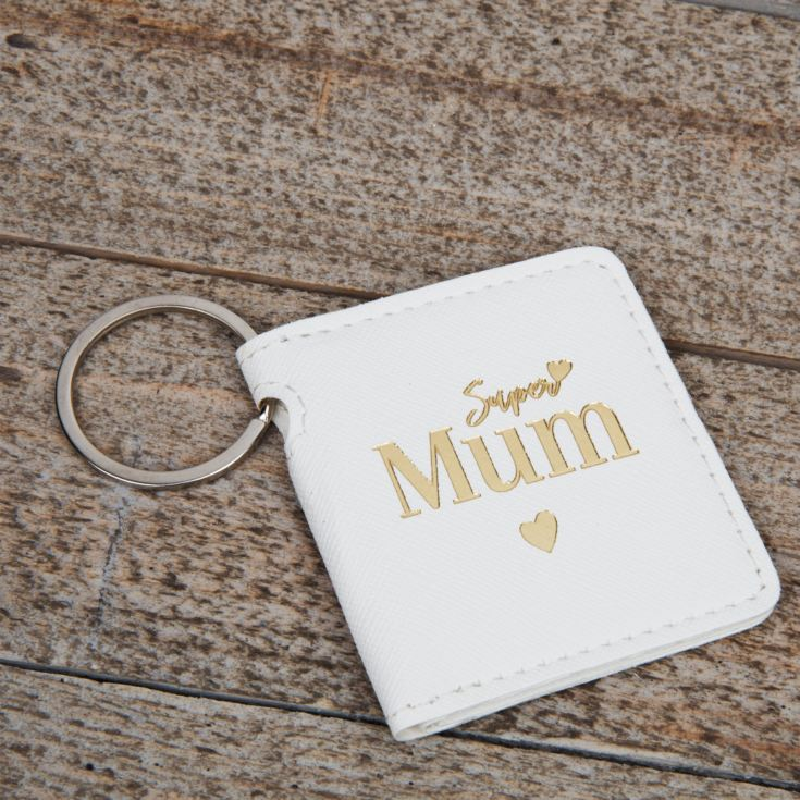 Super Mum Double Folding Leatherette Keyring product image