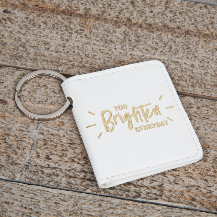 You Brighten My Day Double Folding Leatherette Keyring product image