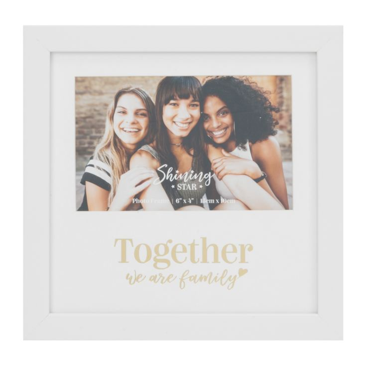 "6"" x 4"" - Gold Foiled Photo Frame - Together We Are Family product image"