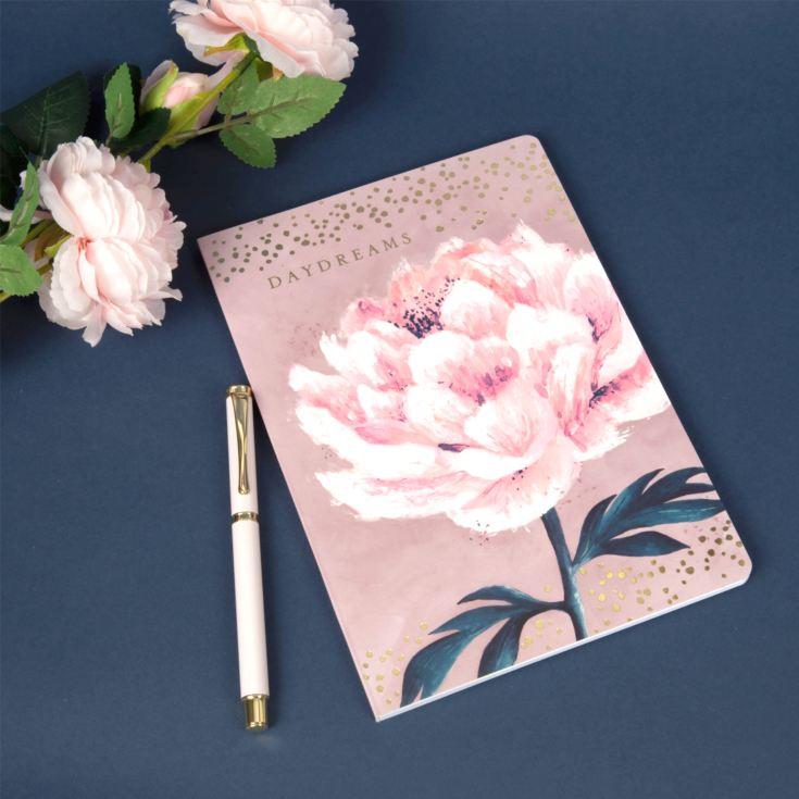 Daydreams Pink Floral A5 64 Page Notepad & Pen Gift Set product image