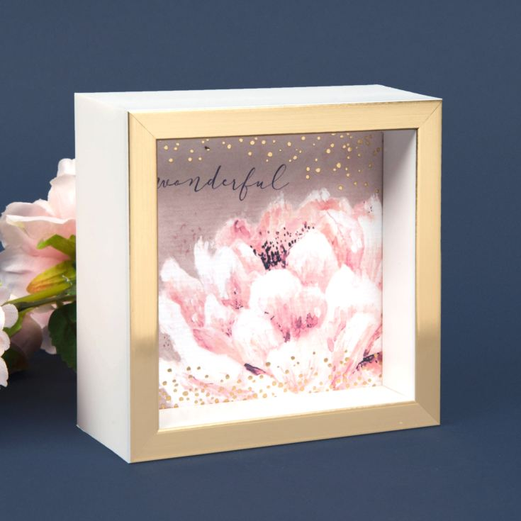 Swan Lake Wonderful Pink Gold Wooden Desk Plaque product image