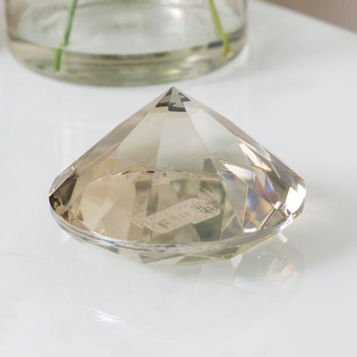 Estella Champagne Glass Diamond Paper Weight product image