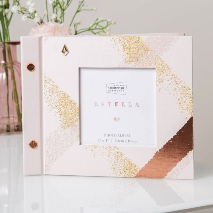 "Estella Photo Album with Crystals From Swarovski® 6"" x 4"" product image"