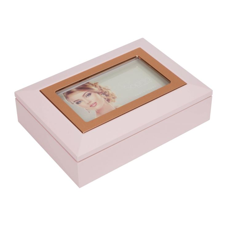 Sophia Jewellery Box with Photo Frame - Pink product image