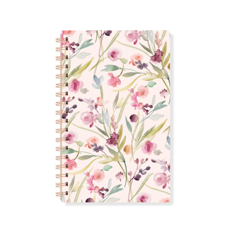 Floral Spiral Book Notebook product image