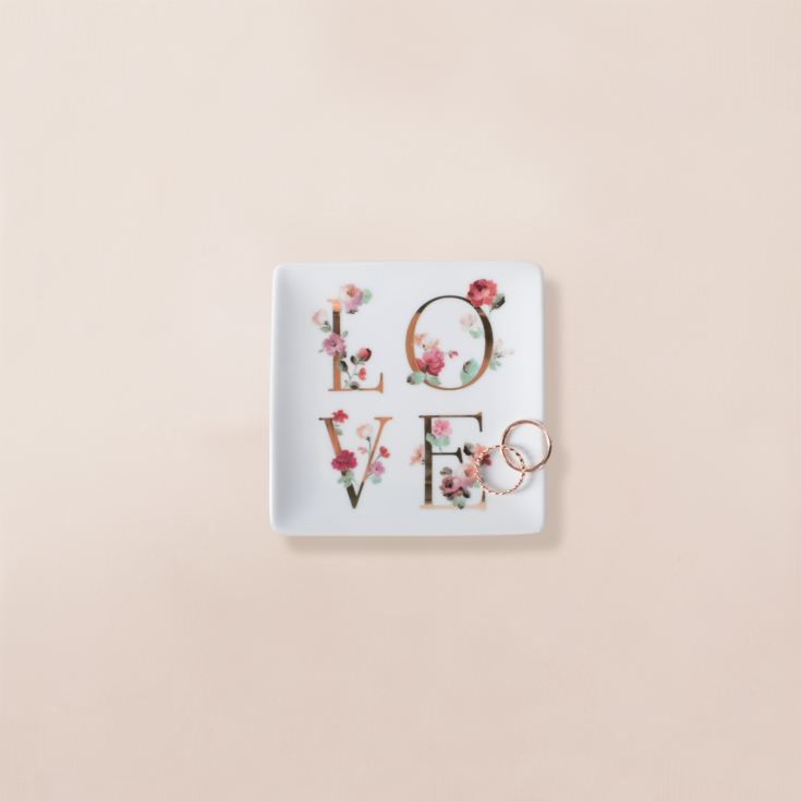 Floral 'Love' Square Trinket Tray product image