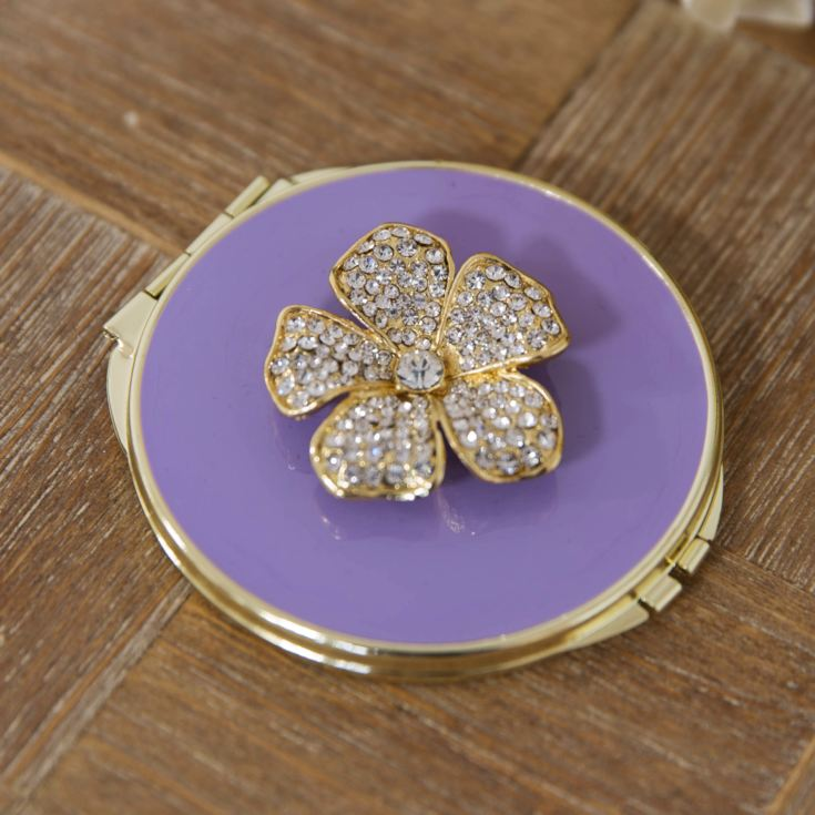 Sophia Compact Mirror - Purple Flower Design product image