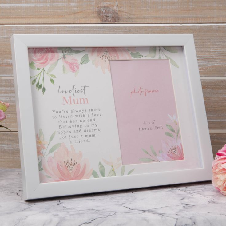 "4"" x 6"" - Sophia Floral Photo Frame - Loveliest Mum product image"