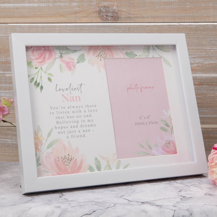 "4"" x 6"" - Sophia Floral Photo Frame - Loveliest Nan product image"