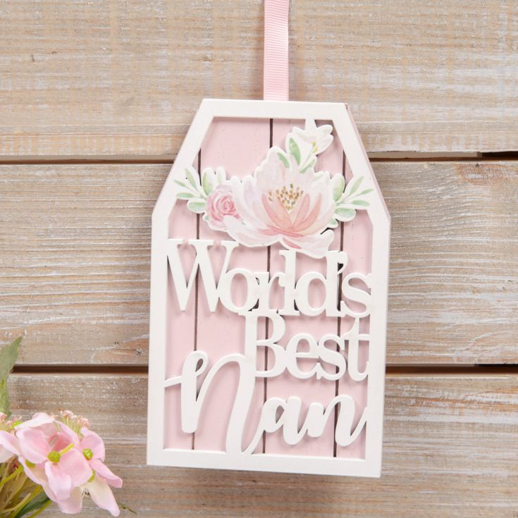 Sophia Wooden Hanging Plaque - World's Best Nan product image