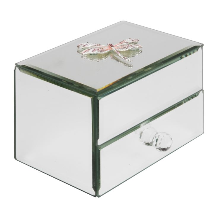 Sophia Pink Crystal Dragonfly Glass Jewellery Box product image