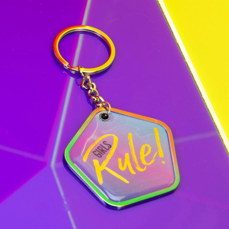 Tutti Frutti Girls Rule Pentagon Keyring product image