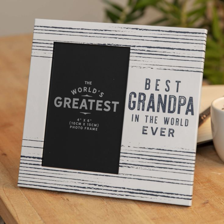 "4"" x 6"" - Best Grandpa In The World Ever Photo Frame product image"