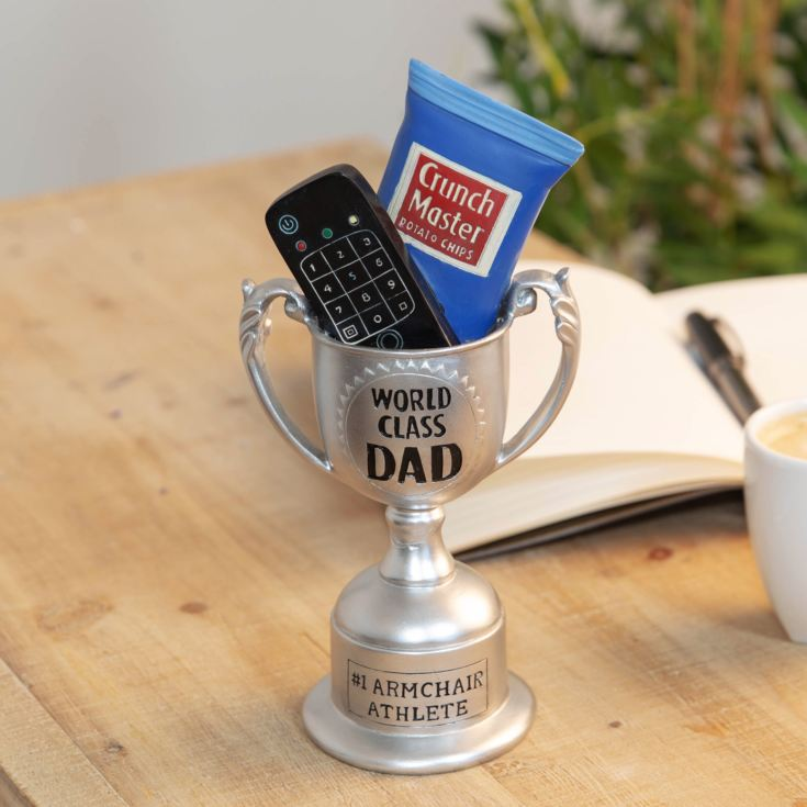 World Class Dad #1 Armchair Athlete Trophy product image