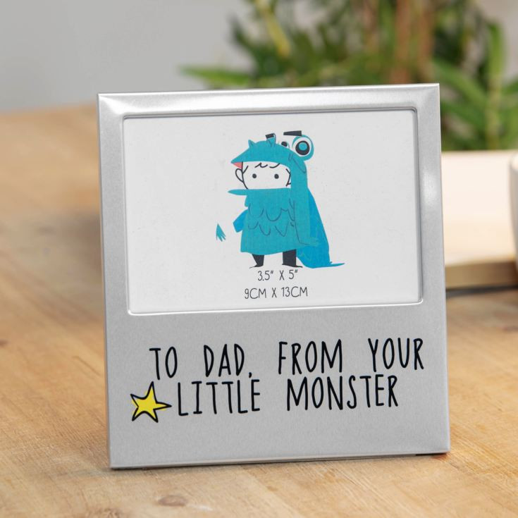 "5"" x 3.5"" - Aluminium Photo Frame - Your Little Monster product image"