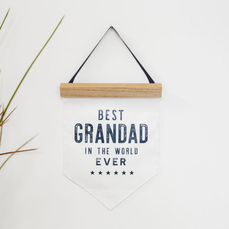 Best Grandad In The World Ever Hanging Canvas Flag product image
