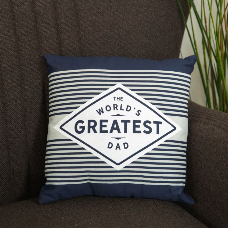The World's Greatest Dad Square Scatter Cushion - 30cm product image