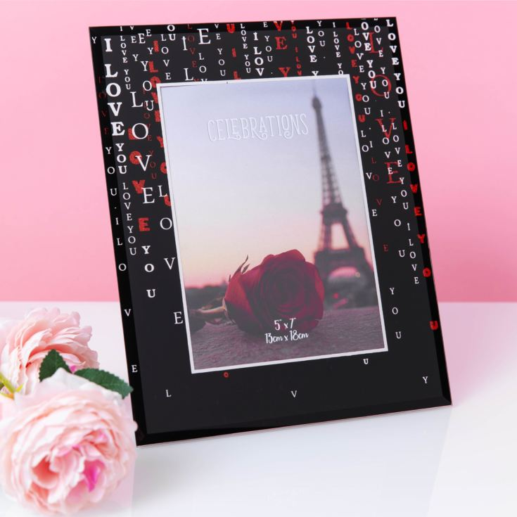 "5"" x 7"" - True Valentine Glass Photo Frame - LOVE product image"