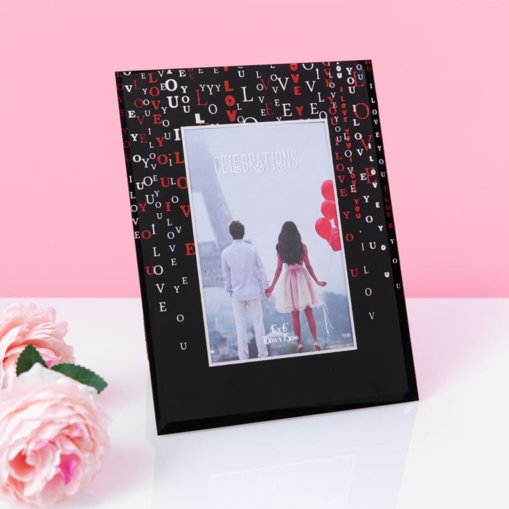 "4"" x 6"" - True Valentine Glass Photo Frame - LOVE product image"