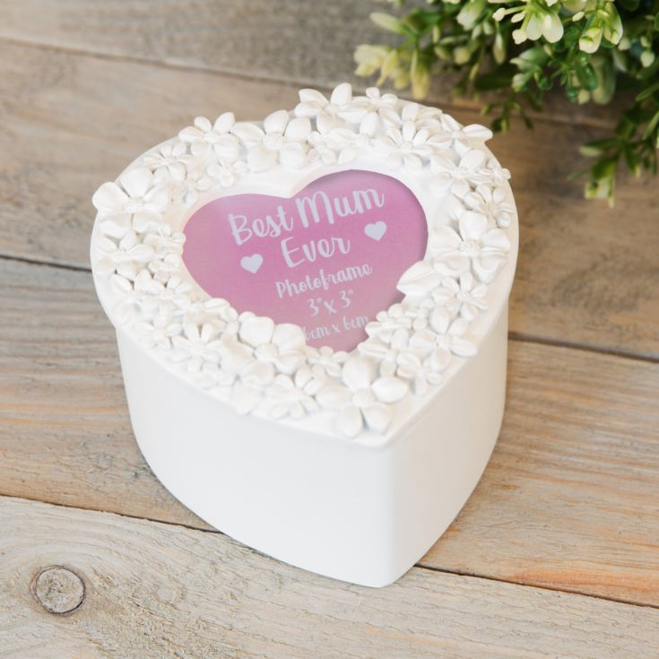 White Heart Resin 3D Flower Trinket - Photo Lid product image