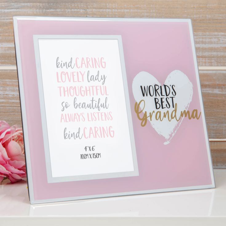 "4"" x 6"" - Mirror Glass Photo Frame - World's Best Grandma product image"