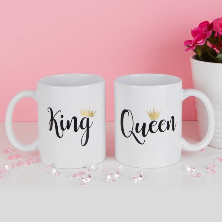 True Valentine Set of 2 King & Queen Mugs product image