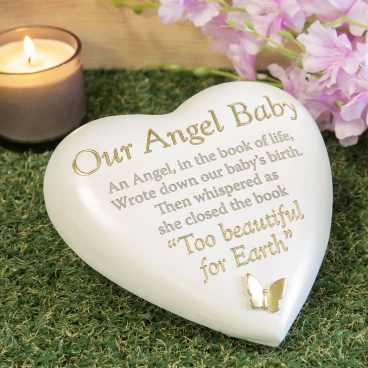 Thought Of You Graveside Heart Memorial - Our Angel Baby product image