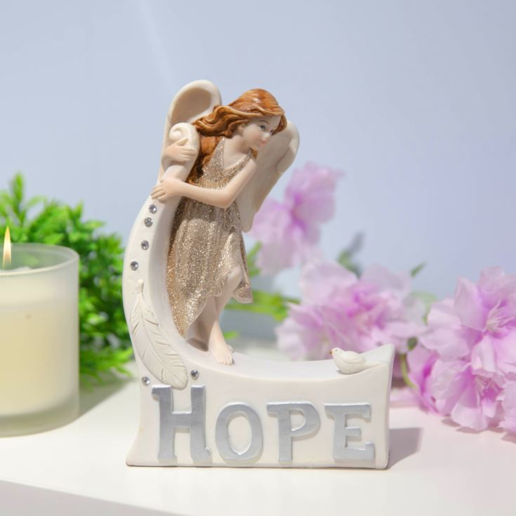 Thoughts Of You Angel Figurine - Hope product image