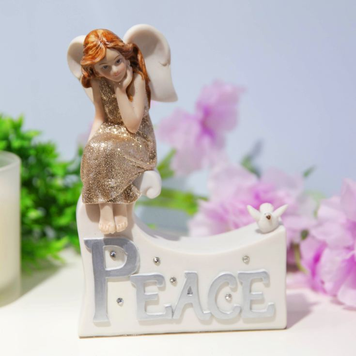Thoughts Of You Angel Figurine - Peace product image