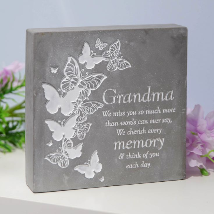 Thoughts Of You Graveside Smooth Concrete Plaque - Grandma product image