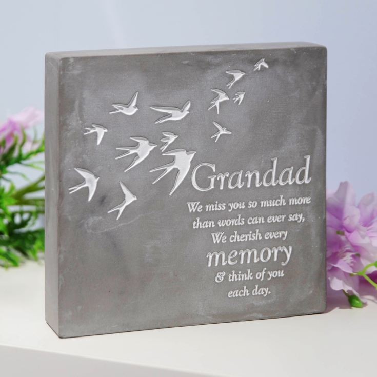 Thoughts Of You Graveside Smooth Concrete Plaque - Grandad product image