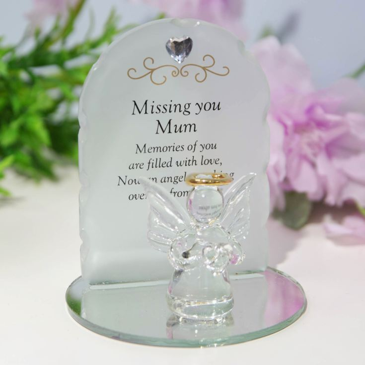 Thoughts Of You Glass Angel Ornament - Mum product image