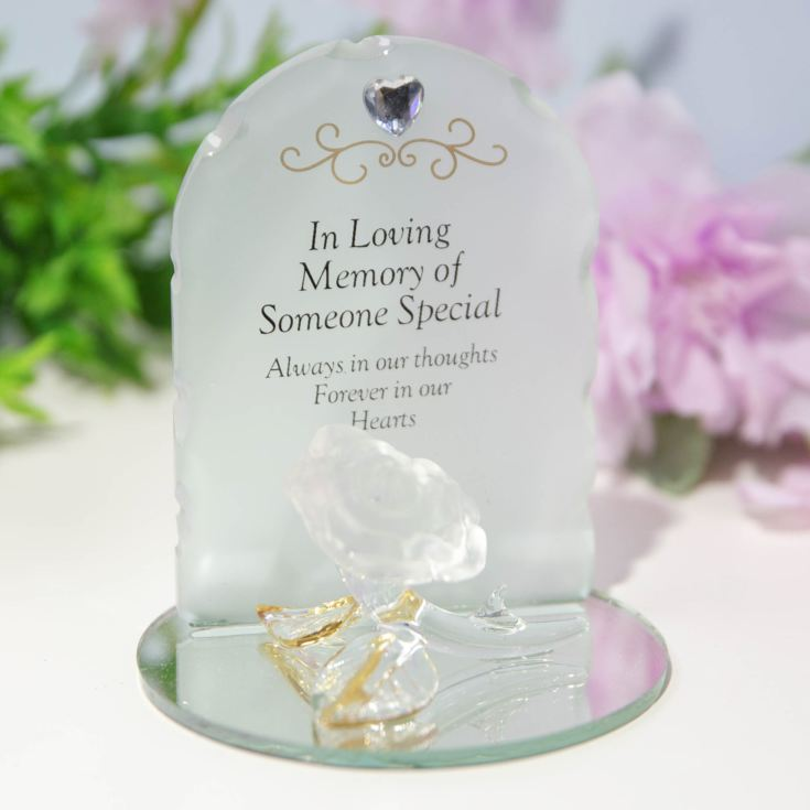 Thoughts Of You Glass Rose Ornament - Someone Special product image