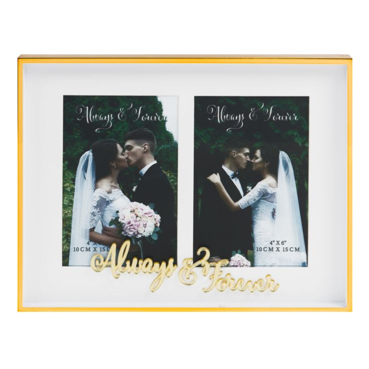 "4"" x 6"" - Always & Forever Double Aperture Photo Frame product image"