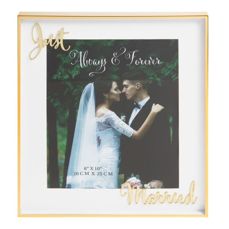 "8"" x 10"" - Always & Forever Photo Frame - Just Married product image"