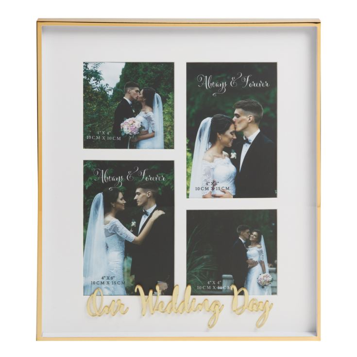 Always & Forever Our Wedding Day Multi Aperture Frame product image