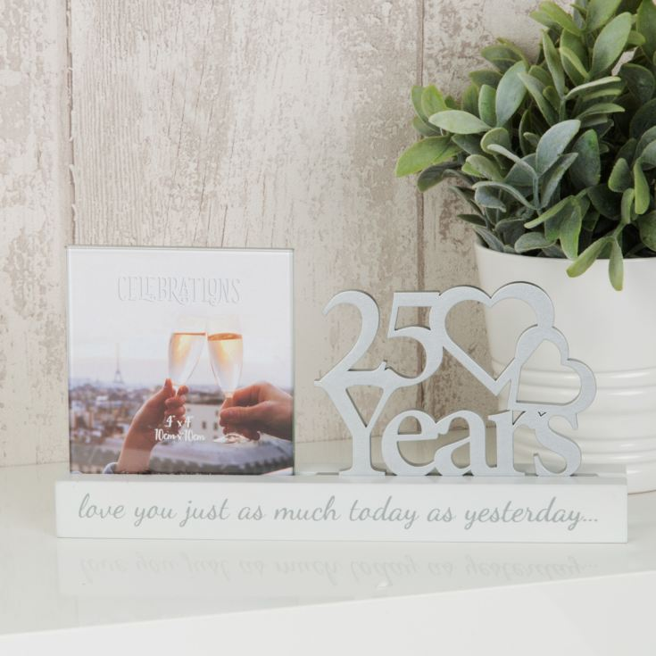 "4"" x 4"" - Celebrations Cut Out Photo Frame - 25 Years product image"