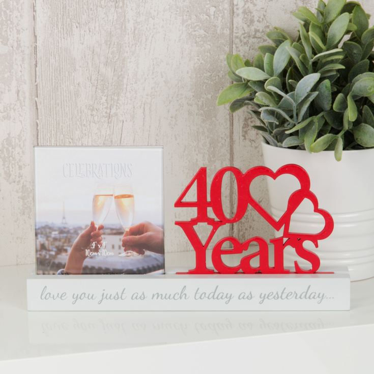 "4"" x 4"" - Celebrations Cut Out Photo Frame - 40 Years product image"