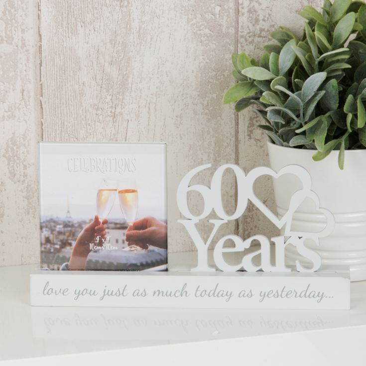 "4"" x 4"" - Celebrations Cut Out Photo Frame - 60 Years product image"