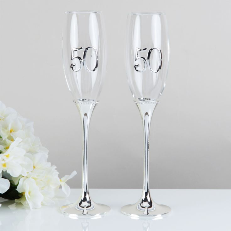 Celebrations Set of 2 Champagne Flutes - 50 product image