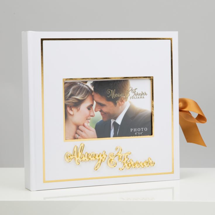"Always & Forever Gold Foil Scrap Book 6""x4"" Cover Aperture product image"
