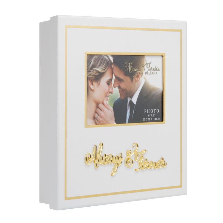 Always & Forever White and Gold Keepsake Box product image