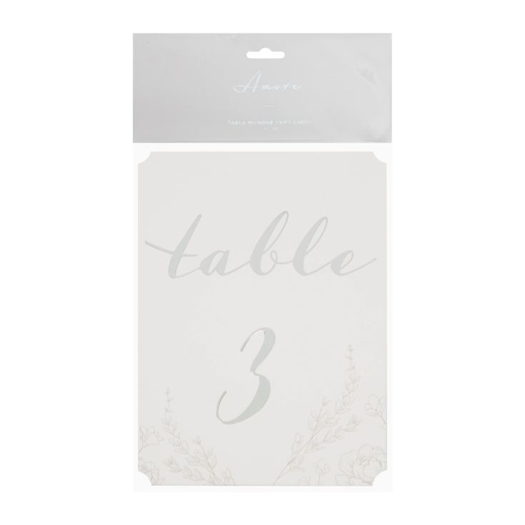 AMORE BY JULIANA® Pack of 12 Wedding Table Number Cards product image