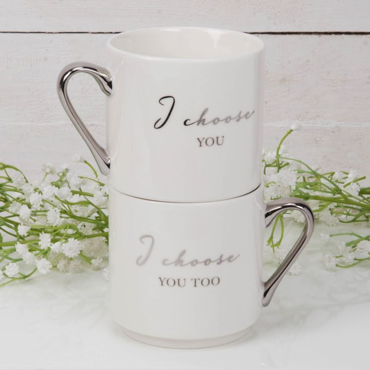 AMORE BY JULIANA® Stackable Mug Set - I Choose You...Too product image