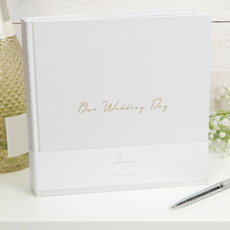 "AMORE BY JULIANA® Our Wedding Day Photo Album 5"" x 7"" 50 Pg product image"