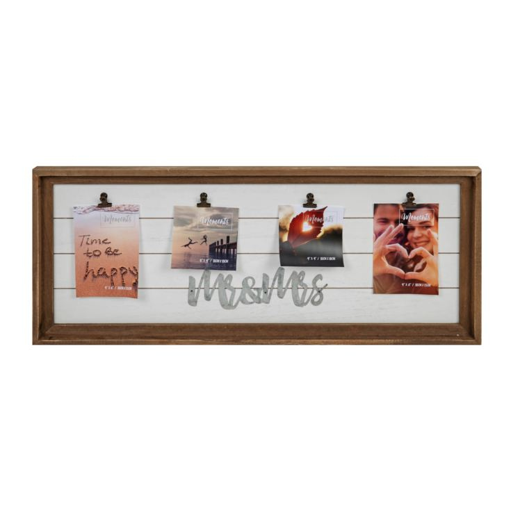 "4"" x 6"" - Mr & Mrs Multi Aperture Clip Frame product image"