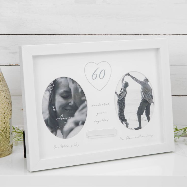 AMORE BY JULIANA® 60th Anniversary Frame - Engraving Plate product image