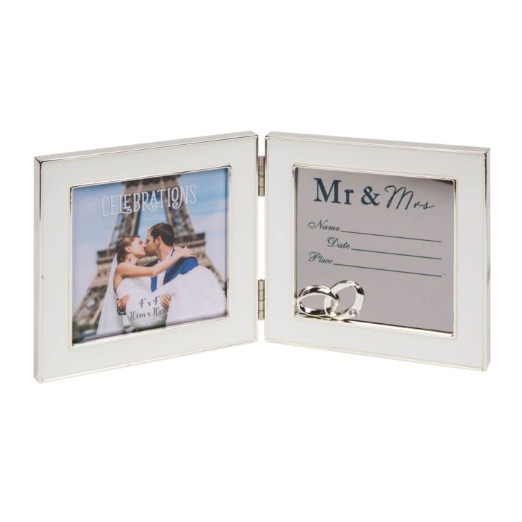 "4"" x 4"" - Engravable Hinged Photo Frame - Mr & Mrs product image"